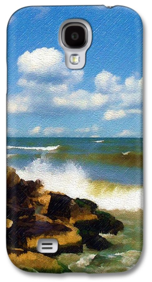 Seascape Galaxy S4 Case featuring the photograph Crashing Into Shore by Sandy MacGowan