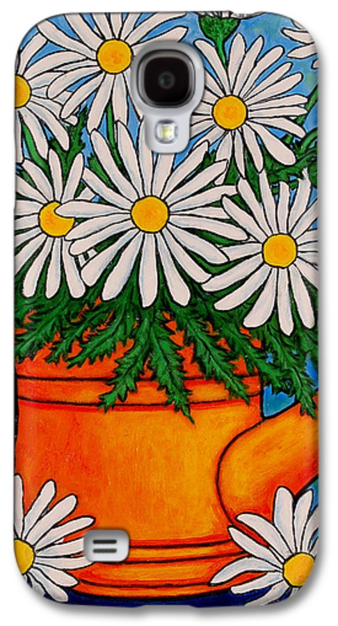 Daisies Galaxy S4 Case featuring the painting Crazy For Daisies by Lisa Lorenz