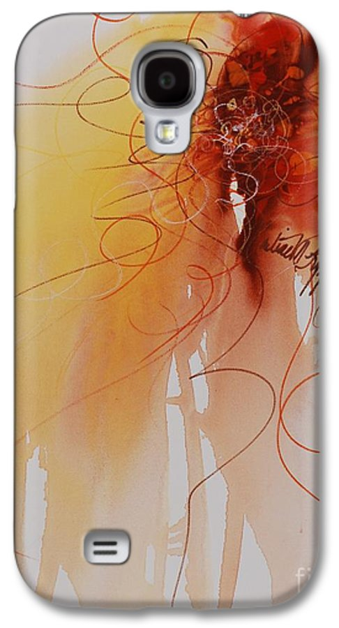 Creativity Galaxy S4 Case featuring the painting Creativity by Nadine Rippelmeyer