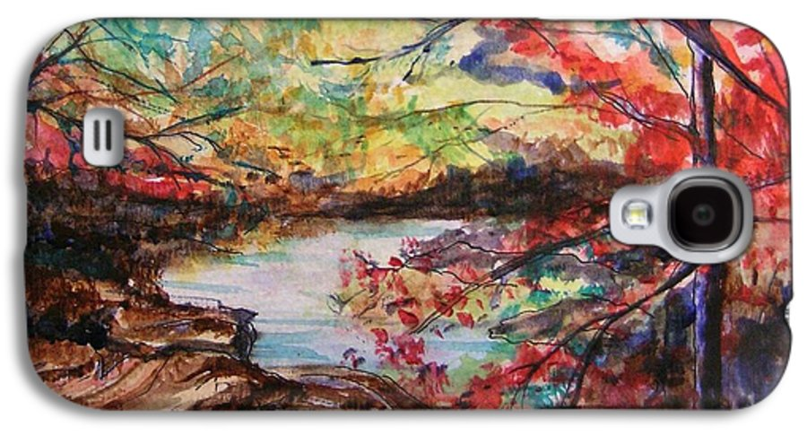 Creek Galaxy S4 Case featuring the painting Creek Blue Ridge Mountains by Lizzy Forrester
