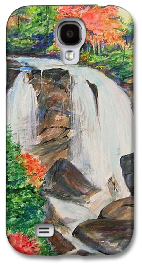 Creek Galaxy S4 Case featuring the painting Creek In Autumn by Lizzy Forrester