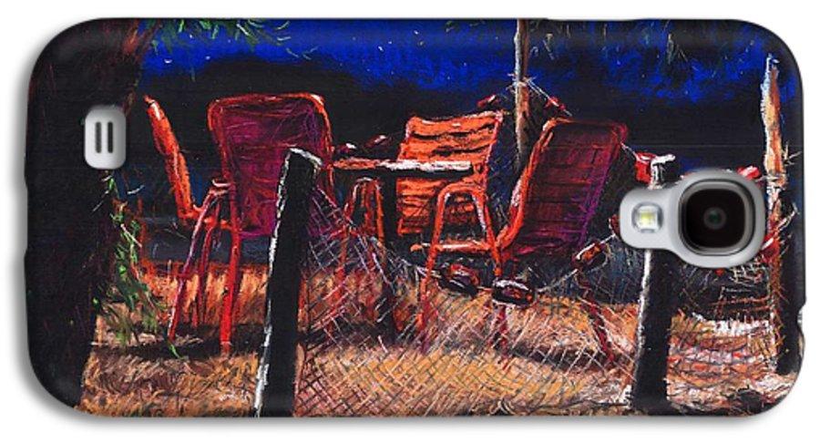 Pastel Galaxy S4 Case featuring the painting Croatia Fisherman Restaurant by Yuriy Shevchuk