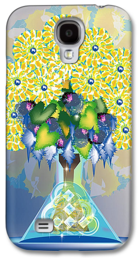 Flowers Galaxy S4 Case featuring the digital art Crystal Boquet by George Pasini
