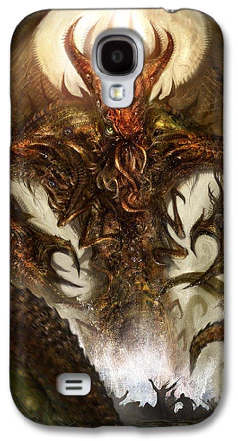 Concept Art Galaxy S4 Case featuring the digital art Cthulhu Rising by Alex Ruiz