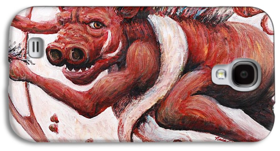 Pig Galaxy S4 Case featuring the painting Cupig by Nadine Rippelmeyer