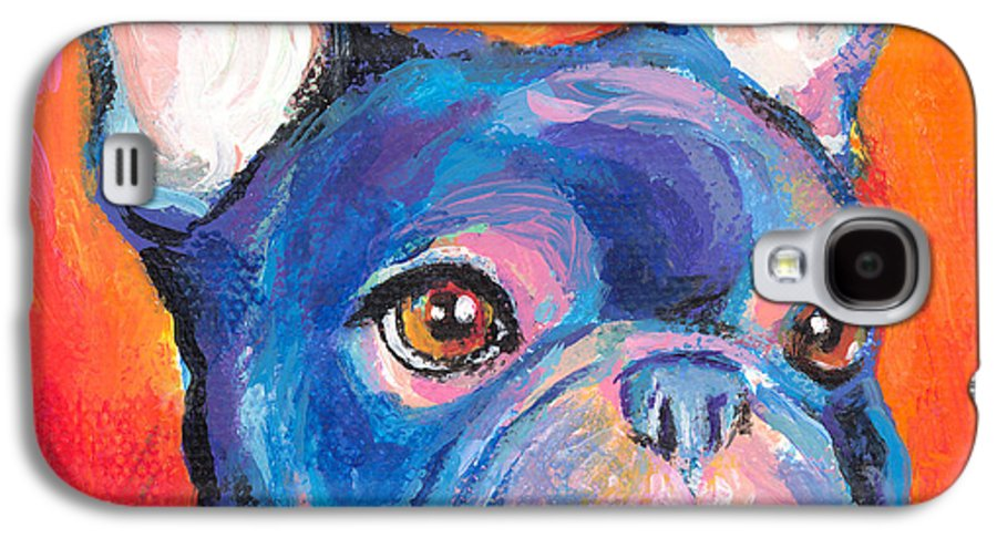 French Bulldog Gifts Galaxy S4 Case featuring the painting Cute French Bulldog Painting Prints by Svetlana Novikova