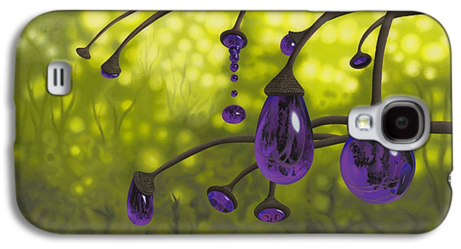 Tree Galaxy S4 Case featuring the painting Cyphomandra Vitra by Patricia Van Lubeck