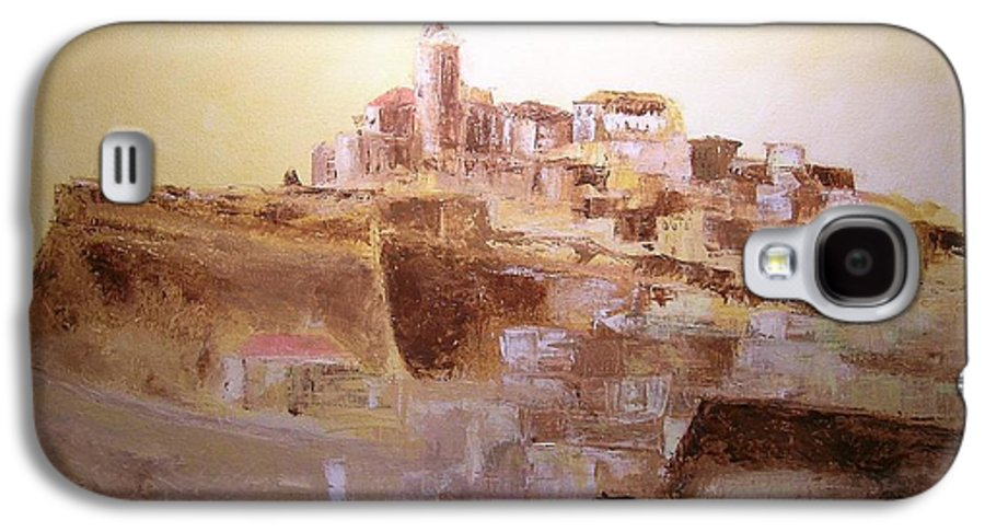 Original Cityscpae Galaxy S4 Case featuring the painting D Alt Vila Ibiza Old Town by Lizzy Forrester