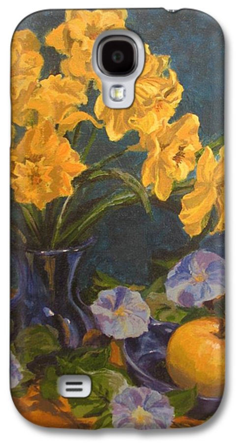Still Life Galaxy S4 Case featuring the painting Daffodils by Karen Ilari