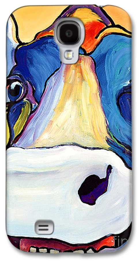 Cow Print Galaxy S4 Case featuring the painting Dairy Queen I  by Pat Saunders-White