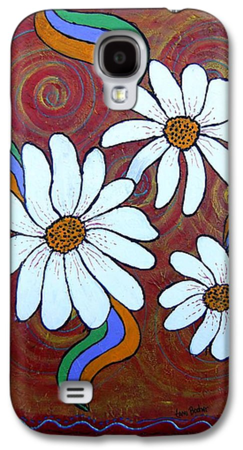 Galaxy S4 Case featuring the painting Daisies Gone Wild by Tami Booher