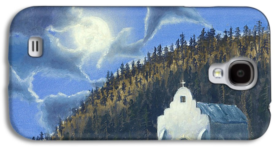 Landscape Galaxy S4 Case featuring the painting Dancing In The Moonlight by Jerry McElroy