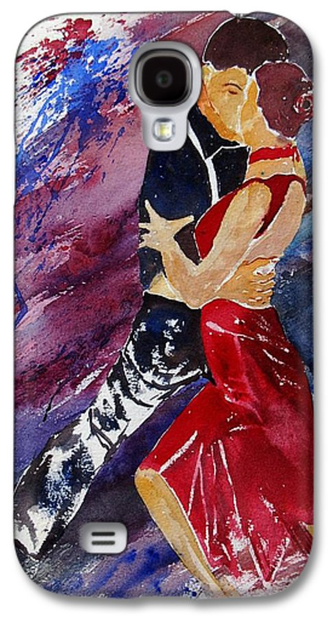 Tango Galaxy S4 Case featuring the painting Dancing Tango by Pol Ledent