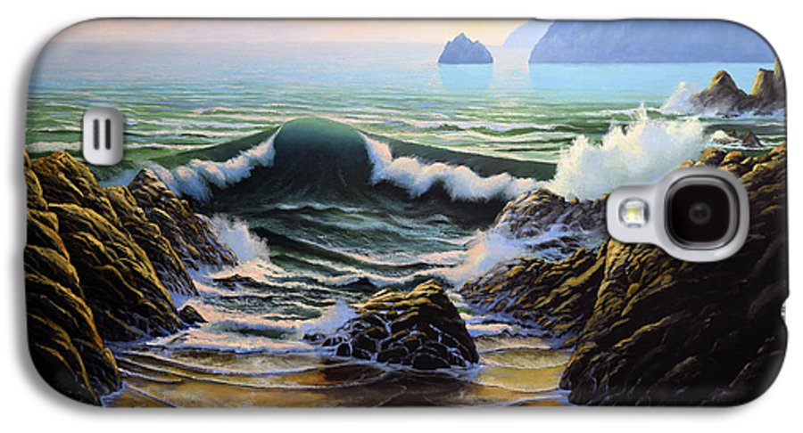 Dancing Tide Galaxy S4 Case featuring the painting Dancing Tide by Frank Wilson