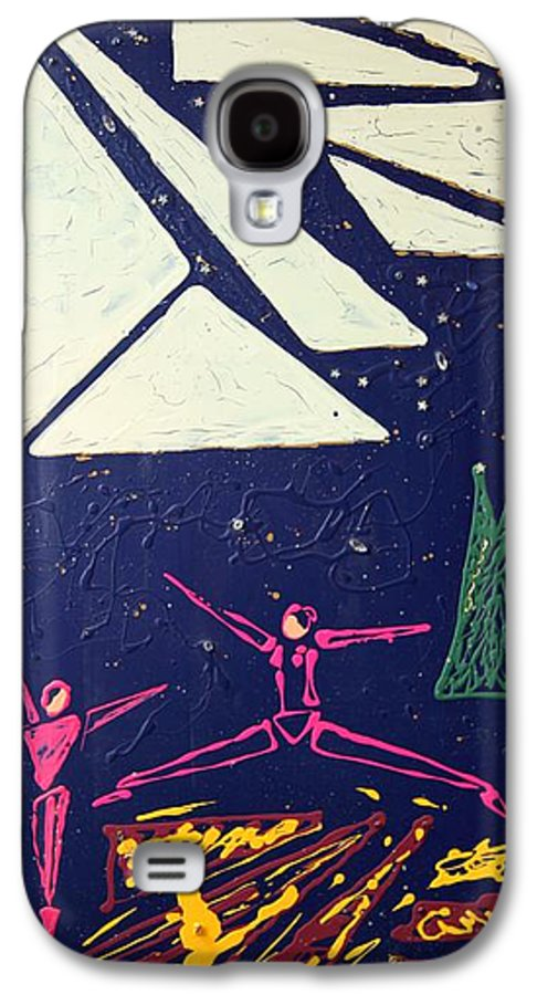Dancers Galaxy S4 Case featuring the mixed media Dancing Under The Starry Skies by J R Seymour
