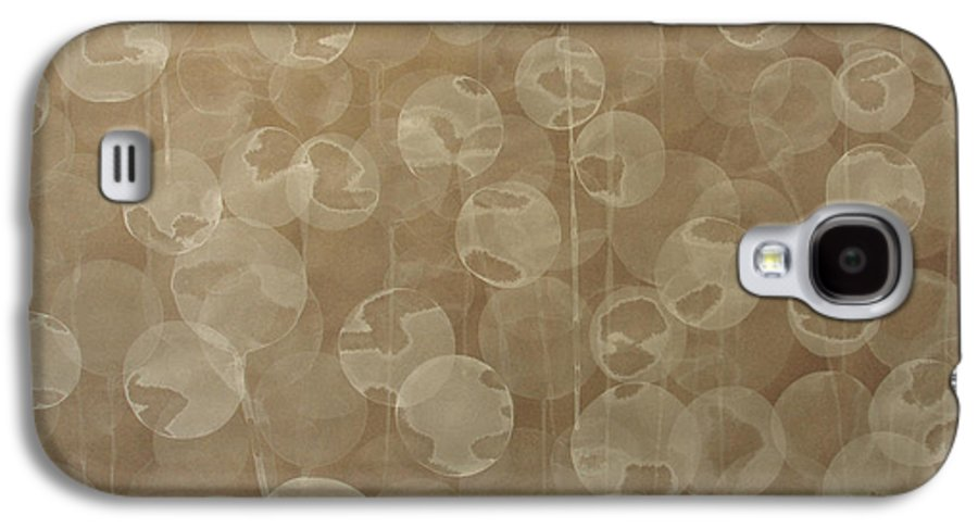 Abstract Galaxy S4 Case featuring the painting Dandelion by Jitka Anlaufova