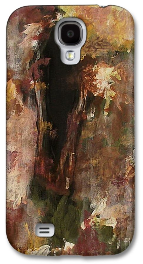 Abstract Galaxy S4 Case featuring the painting Dark Presence by Itaya Lightbourne