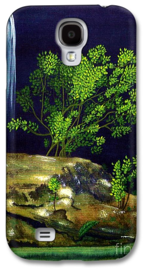 Fine Art Galaxy S4 Case featuring the painting Dark Waters by Patricia Griffin Brett