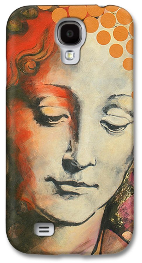 Figurative Galaxy S4 Case featuring the painting Davinci's Head by Jean Pierre Rousselet