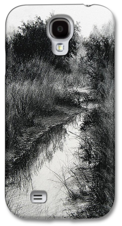 Charcoal Galaxy S4 Case featuring the drawing Dawn Marsh by Keith Burgess