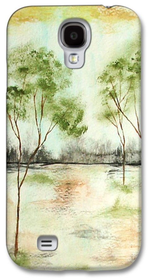 Abstract Galaxy S4 Case featuring the painting Daydream by Itaya Lightbourne