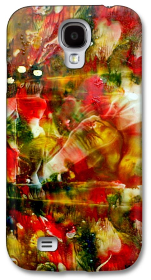 Window Galaxy S4 Case featuring the painting Deck The Halls by Susan Kubes