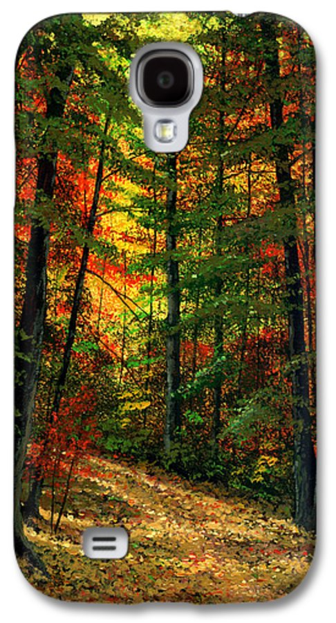 Landscape Galaxy S4 Case featuring the painting Deep In The Forest by Frank Wilson