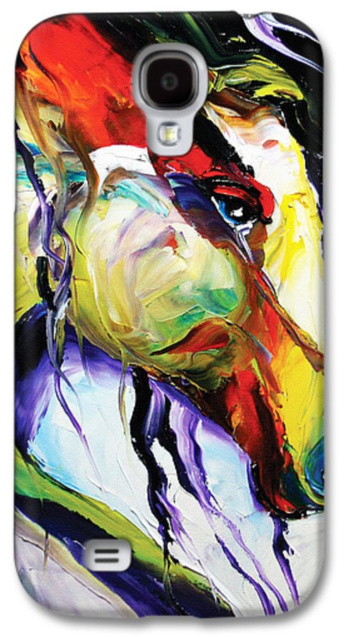 Horse Paintings Galaxy S4 Case featuring the painting Deep Memories by Laurie Pace