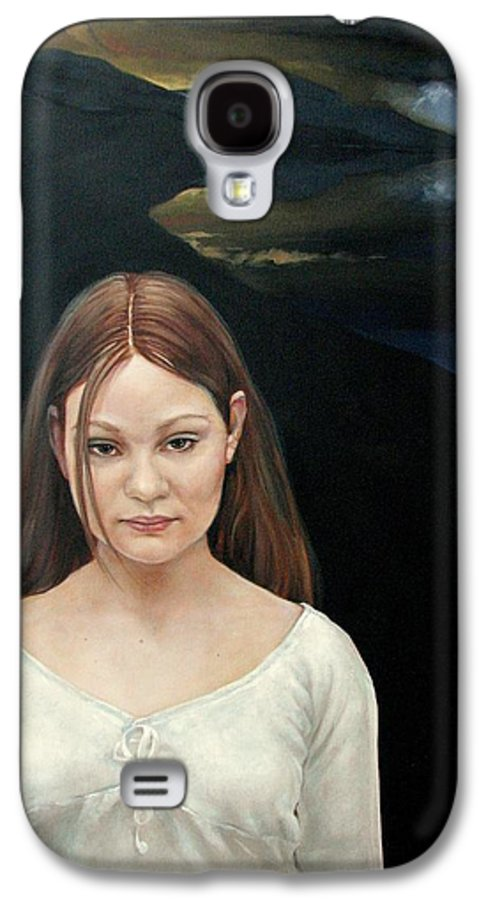 Facial Expressioin Galaxy S4 Case featuring the painting Defiant Girl 2004 by Jerrold Carton