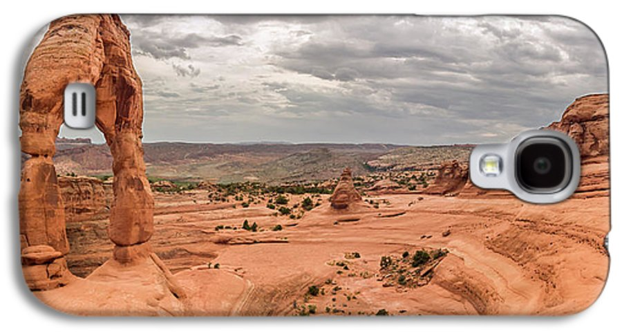 3scape Galaxy S4 Case featuring the photograph Delicate Arch Panoramic by Adam Romanowicz