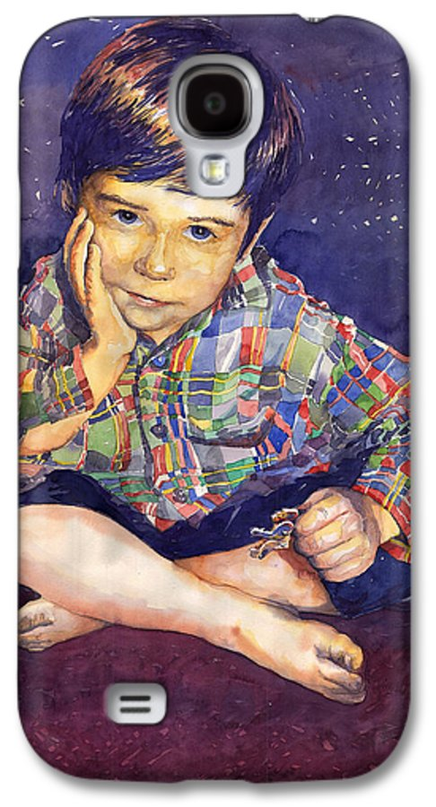 Watercolor Watercolour Portret Figurativ Realism People Commissioned Galaxy S4 Case featuring the painting Denis 01 by Yuriy Shevchuk