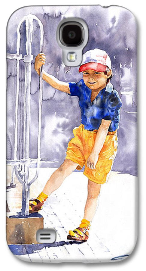 Watercolor Watercolour Figurativ Portret Galaxy S4 Case featuring the painting Denis 02 by Yuriy Shevchuk