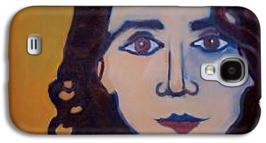 Greek Woman Galaxy S4 Case featuring the painting Denise Closeup by Debra Bretton Robinson