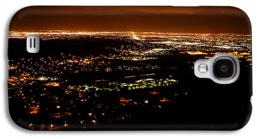 Clay Galaxy S4 Case featuring the photograph Denver Area At Night From Lookout Mountain by Clayton Bruster