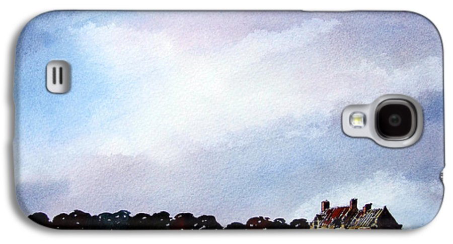 Watercolour Galaxy S4 Case featuring the painting Derelict Farmhouse Near Malton by Paul Dene Marlor