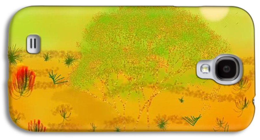 Sky.heat.dust.sun.desert.bush.sand.prickles. Sandy Dunes.rest.silence. Galaxy S4 Case featuring the digital art Desert by Dr Loifer Vladimir