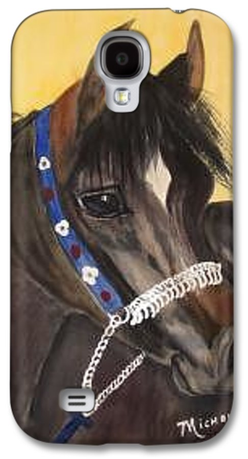 Arabian Horse Galaxy S4 Case featuring the painting Desert Dream by Michele Turney