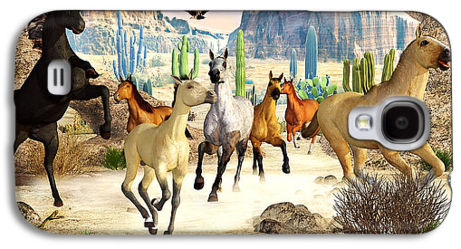 Horses Galaxy S4 Case featuring the photograph Desert Horses by Peter J Sucy