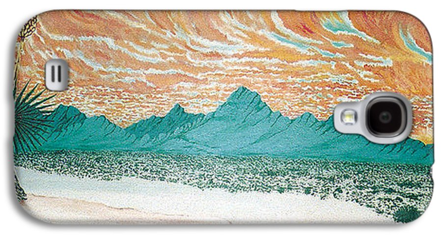 Desertscape Galaxy S4 Case featuring the painting Desert Splendor by Marco Morales