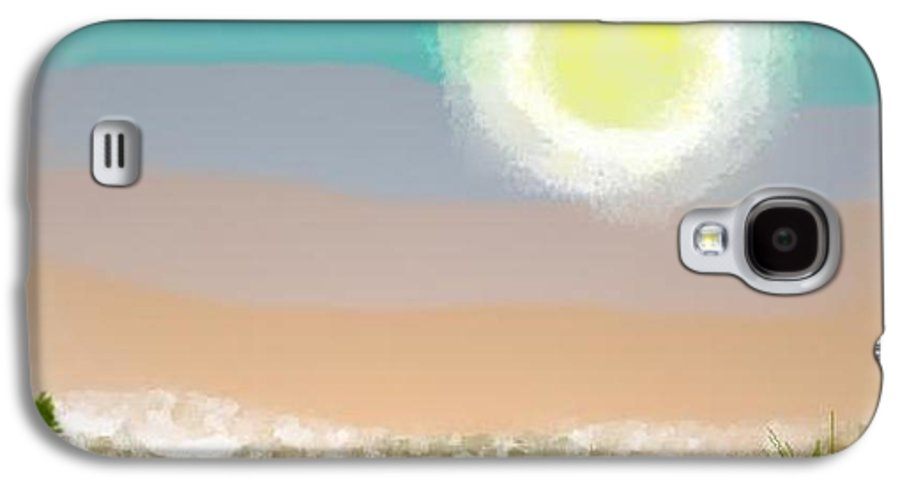 Sky.moon.desert.rest.silence.sand.prickles.moonlight. Galaxy S4 Case featuring the digital art Desert.night.moon by Dr Loifer Vladimir
