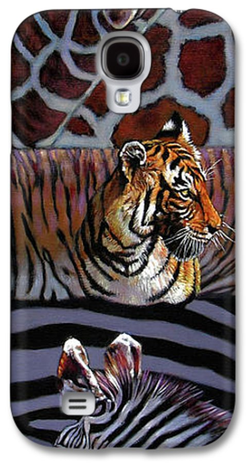 Animals Galaxy S4 Case featuring the painting Designs For Defense And Offense by John Lautermilch