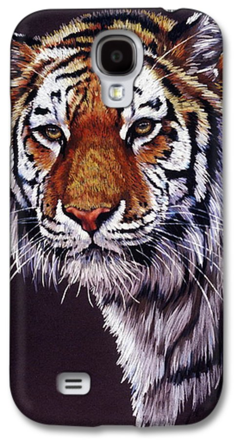 Tiger Galaxy S4 Case featuring the drawing Desperado by Barbara Keith