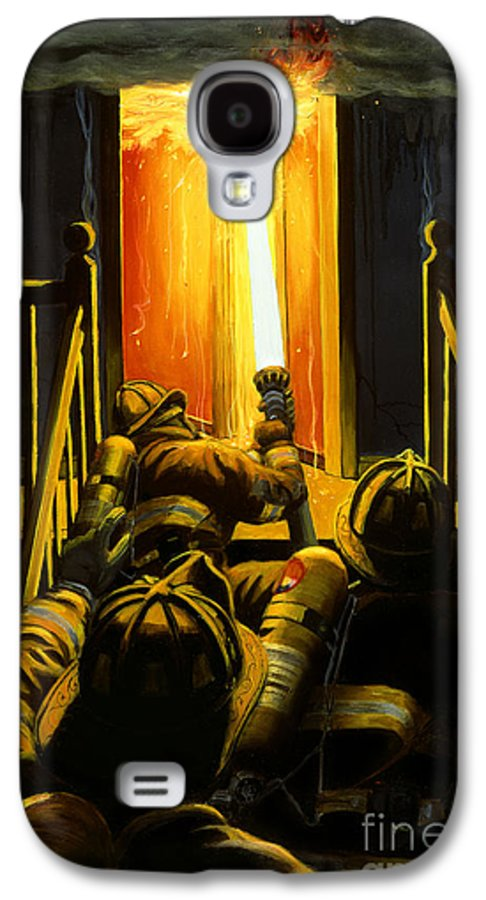 Firefighting Galaxy S4 Case featuring the painting Devil's Stairway by Paul Walsh
