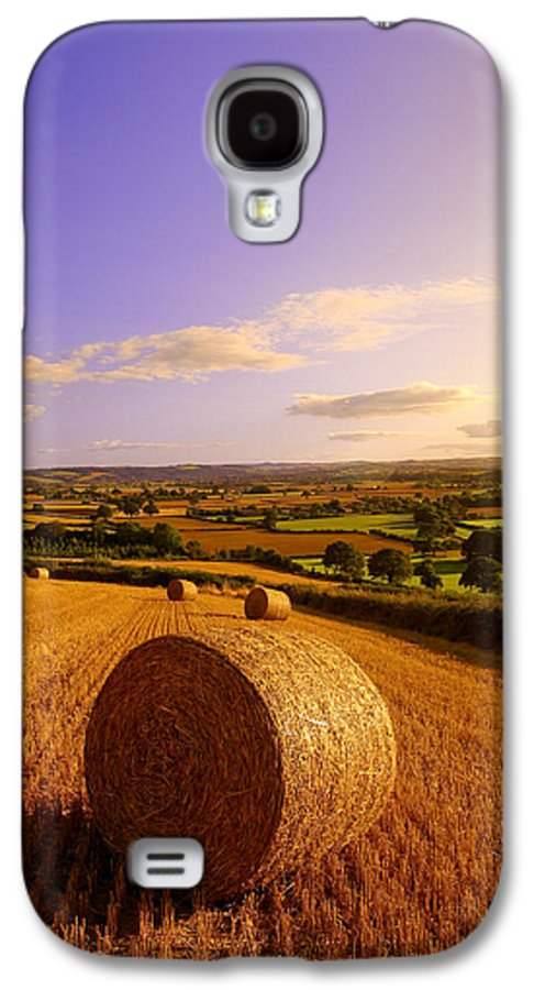 Devon Galaxy S4 Case featuring the photograph Devon Haybales by Neil Buchan-Grant