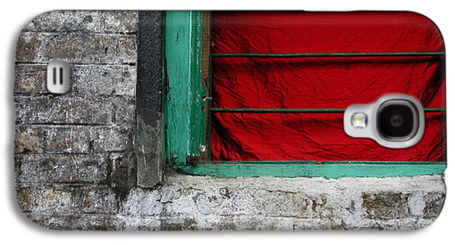 Red Galaxy S4 Case featuring the photograph Dharamsala Window by Skip Hunt
