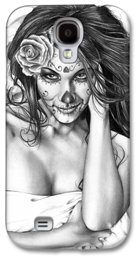 Jennifer Galaxy S4 Case featuring the painting Dia De Los Muertos 2 by Pete Tapang