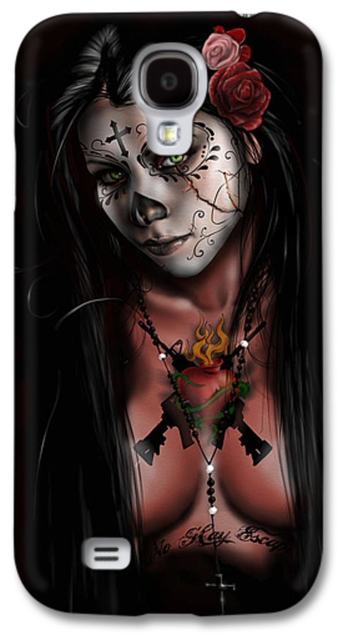 Pete Galaxy S4 Case featuring the painting Dia De Los Muertos 3 by Pete Tapang