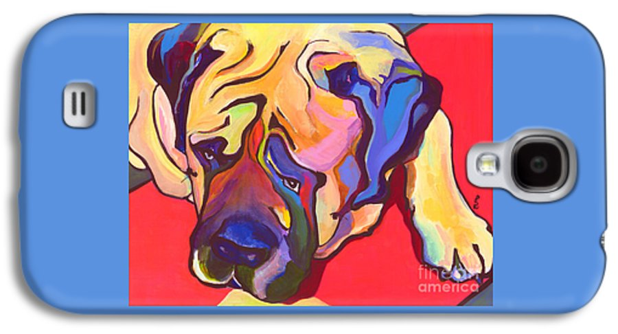 Mastiff Galaxy S4 Case featuring the painting Diesel  by Pat Saunders-White