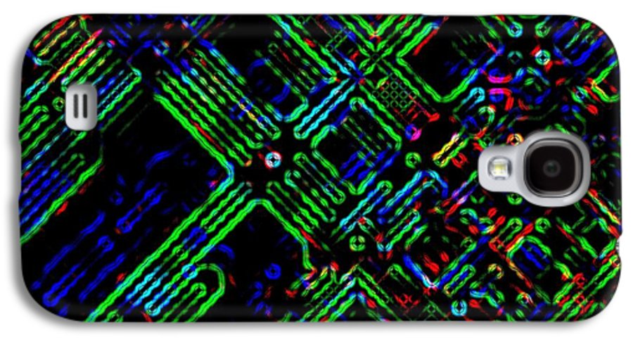 Abstract Galaxy S4 Case featuring the digital art Diffusion Component by Will Borden
