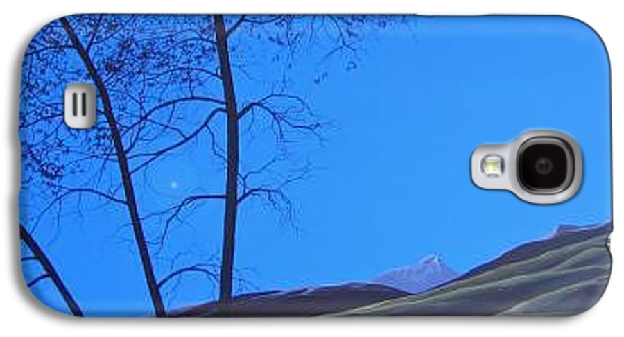 Mountains Galaxy S4 Case featuring the painting Distant Sun by Hunter Jay